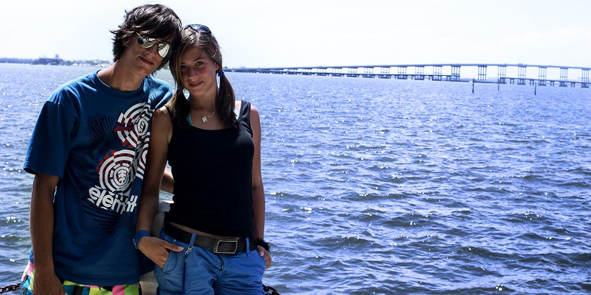 2009 in Miami mit meiner Schwester