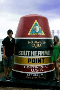 Rückblick 2009 - Zusammen mit meiner Schwester in Key West (Florida) am Southernmost Point